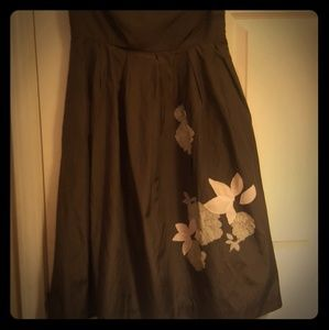 Slate Gray Empire Waist Spring Dress Size 4